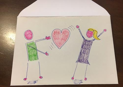 Meine erste 7 Tage Challenge: Liebesbrief Umschlag